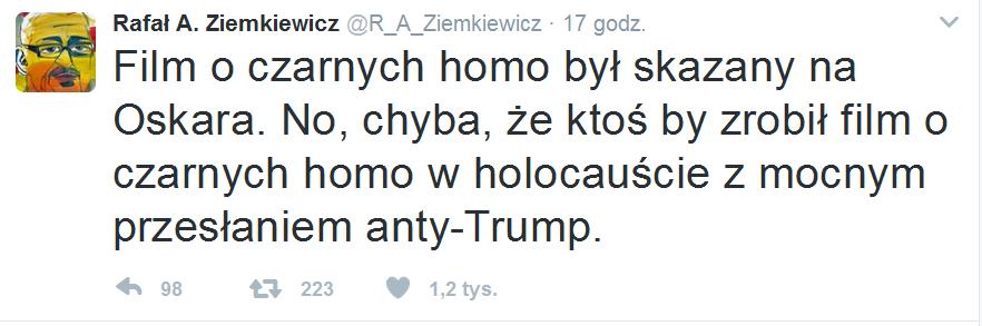 Komentarz Twitter Rafał Ziemkiewicz