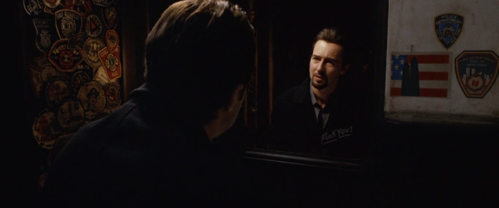 edward norton, lustro, mirror, 25.godzina, 25th hour, lustra