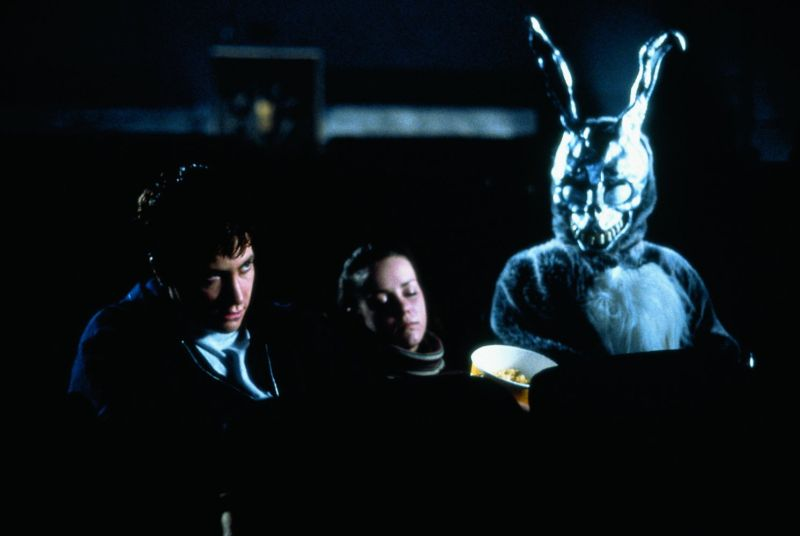 Donnie Darko, Richard Kelly, James Duval, Jake Gyllenhaal, Jena Malone, Drew Barrymore, Noah Wyle, Maggie Gyllenhaal, szkoła