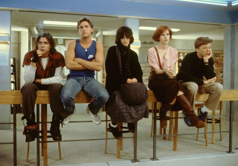 Klub winowajców, The Breakfast Club, Molly Ringwald, Judd Nelson, Emilio Estevez, Anthony Michael Hall, Ally Sheedy, Paul Gleason, John Hughes