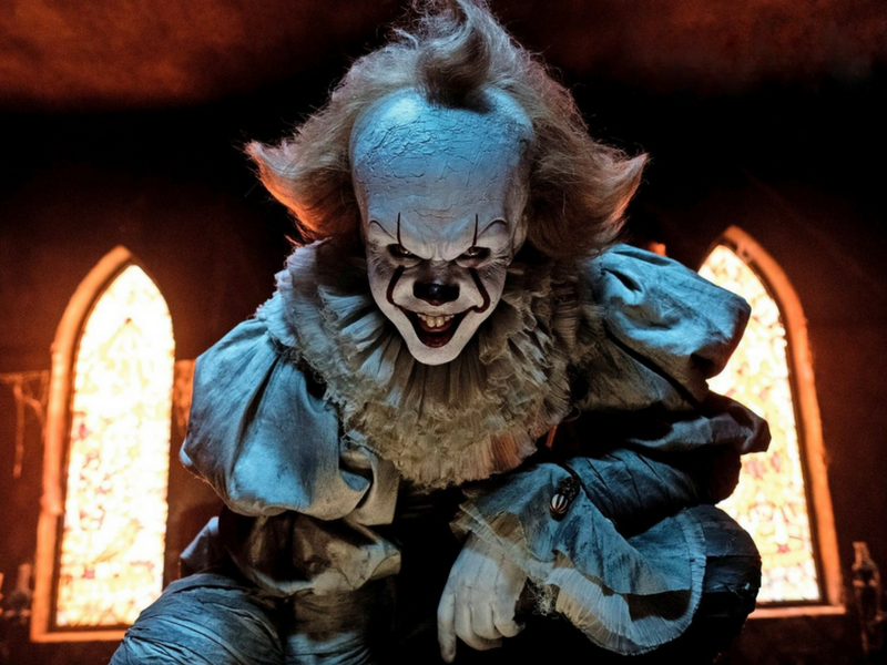 Bill Skarsgård, Jaeden Lieberher, Henry Bowers, Pennywise, To, It, Stephen King, halloween