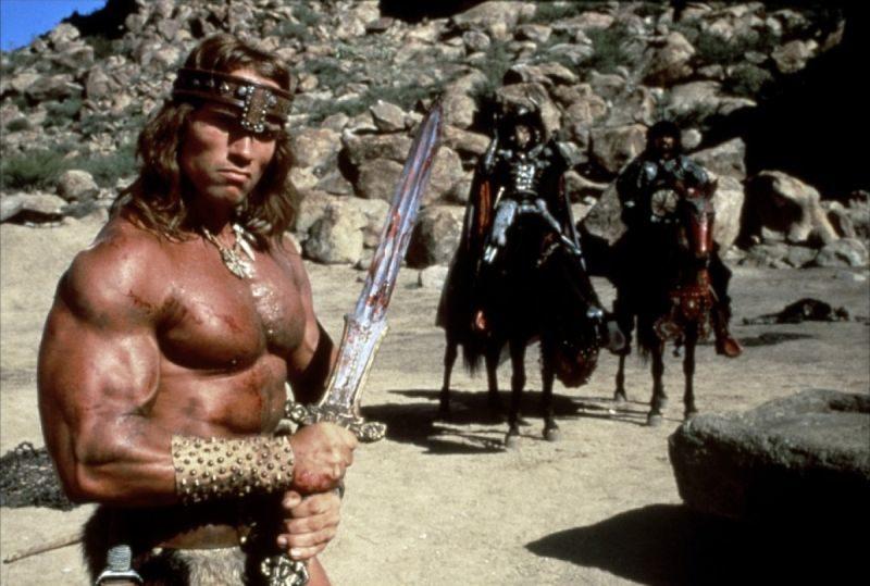 Conan Barbarzyńca, Conan Niszczyciel, Conan The Barbarian, Conan The Destroyer, Arnold Schwarzenegger, fantasy, Richard Fleischer, Conan the Conqueror, Conan