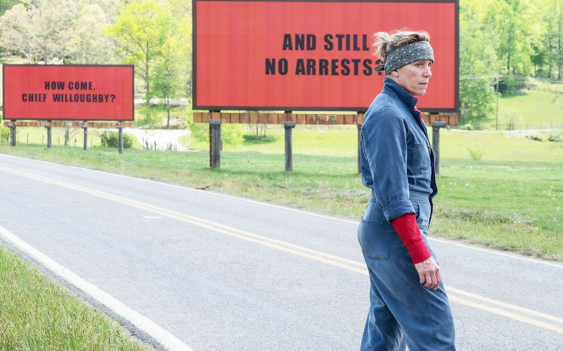 Trzy billboardy za Ebbing Missouri, Three Billboards Outside Ebbing Missouri, Martin McDonagh, Frances McDormand, Woody Harrelson, Sam Rockwell, Peter Dinklage, zemsta, sprawiedliwość