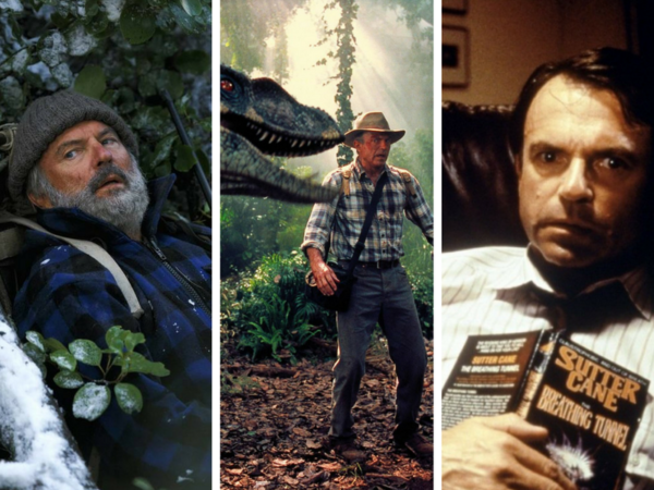 Sam Neill, Park Jurajski, Jurassic Park, W paszczy szaleństwa, In the Mouth of Madness, Dzikie łowy, Hunt for the Wilderpeople, to nie o tym, tonieotym
