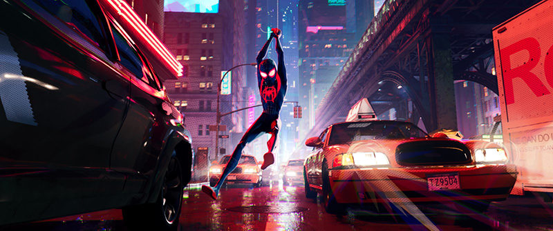 Spider-Man, Spider-Man Uniwersum, Peter Parker, Miles Morales, Gwen Stacy, Marvel, komiks, superbohaterowie, animacja, Bob Persichetti, Peter Ramsey, Oscar, Shameik Moore, Jake Johnson, Hailee Steinfeld, Mahershala Ali, Nicolas Cage