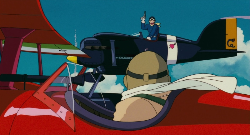 Szkarłatny pilot, Porco Rosso, Hayao Miyazaki, Studi Ghibli, Porco, Curtis, Włochy, Japonia, anime, animacja, wojna, Kurenai no buta, Joe Hisaishi