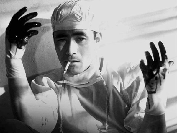 Akira Kurosawa, Toshiro Mifune, Takashi Shimura, Pojedyunek w ciszy, Milczący pojedynek, The Quiet Duel, Shizukanaru ketto, koronawirus, syfilis, Japonia