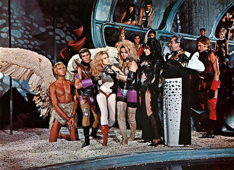 Barbarella, Jane Fonda, David Hemmings, John Phillip Law, Roger Vadim, komedia, s-f